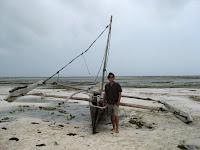 Zanzibar traditional fishing boat