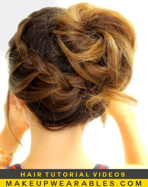 Trendy, creative and easy  updos for hair 2017 1