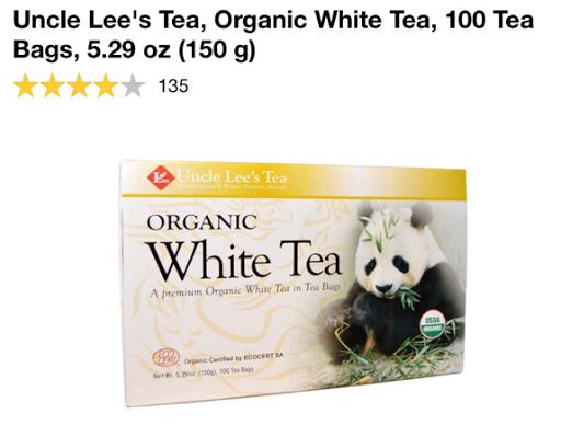 الشاي الأبيض العضوي من اي هيرب iherb Uncle Lee's Tea, Organic White Tea, 100 Tea Bags, 5.29 oz (150 g)