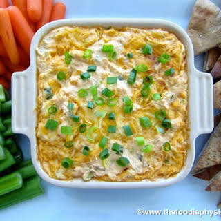 Lightened Up Buffalo Chicken Dip.
