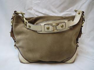 Coach Suede Shoulder Bag