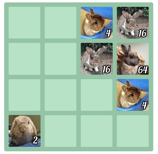 Bunny 2048 screenshot