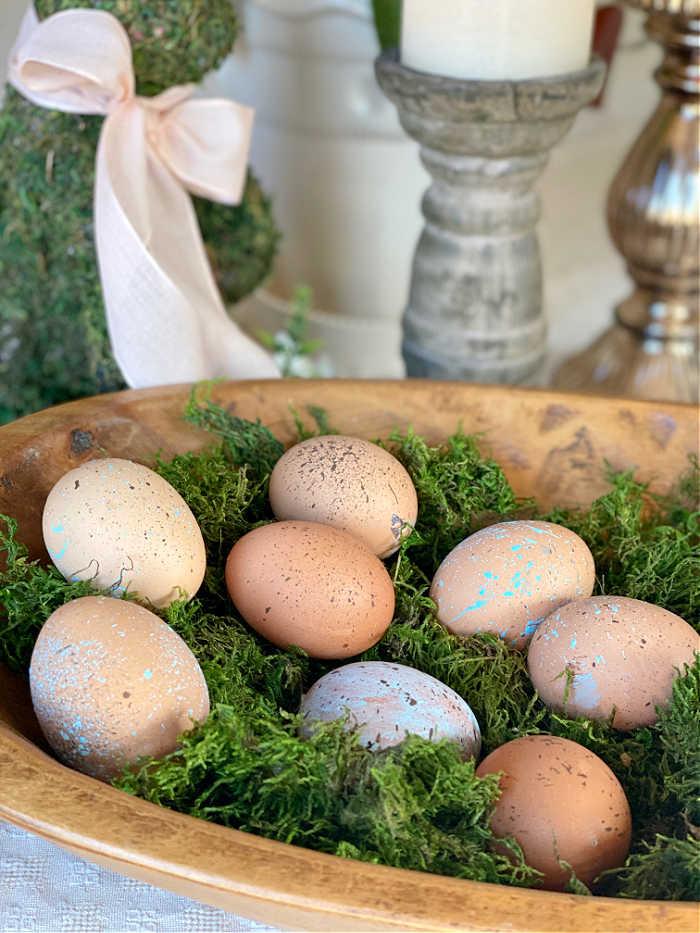 diy splatter painted blown eggs