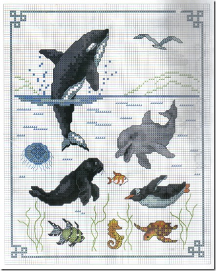 delfines punto de cruz  (2)