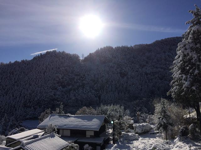 大月 雪景色