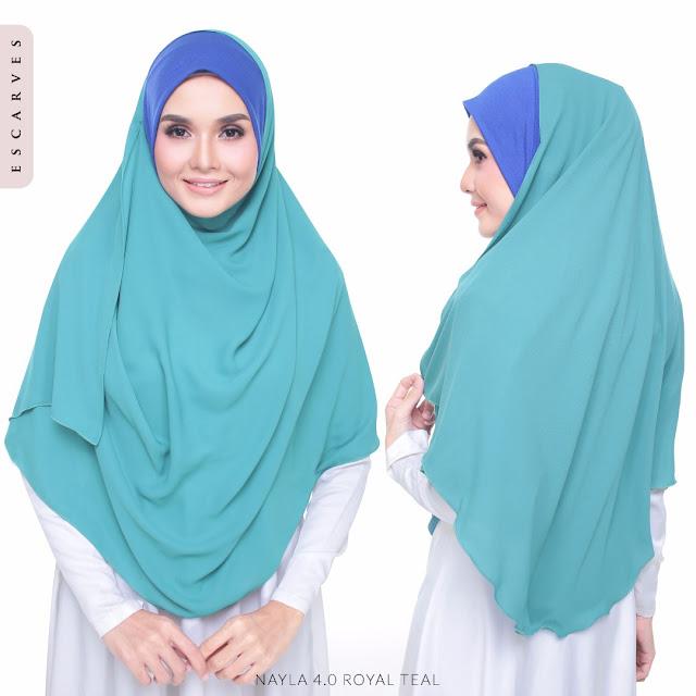 tudung shawl labuh instant