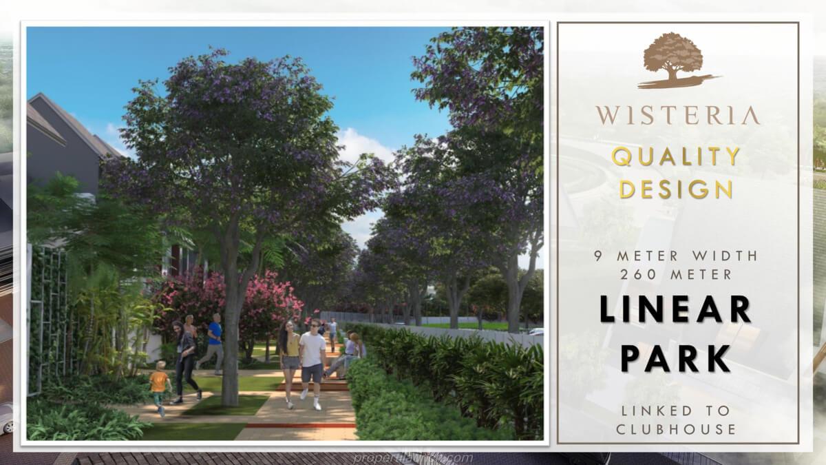 Perumahan Wisteria - Linear Park