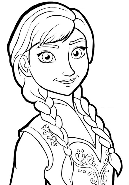 Download And Print Coloring Page Anna Frozen