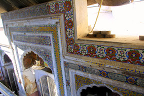 View of a chamber decorated with fresco