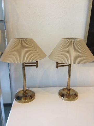 Mid Century Modern Miami Vintage Furniture Store Stiffel Brass Swing Arm Lamps