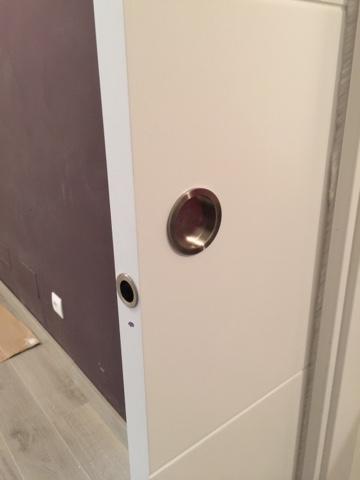Trabajos de las ltimas semanas karpinteria puertas for Tirador embutido puerta corredera