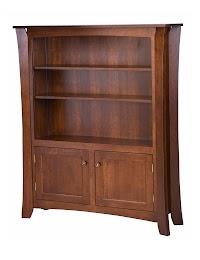Oak Wooden Door Bookshelves