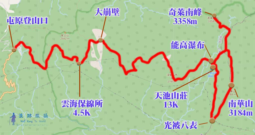 奇萊南華 路線 行程 安排