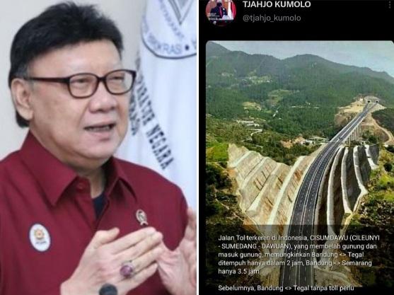 Unggah Foto Hoax Tol Cisumdawu, Menteri Tjahjo Minta Maaf