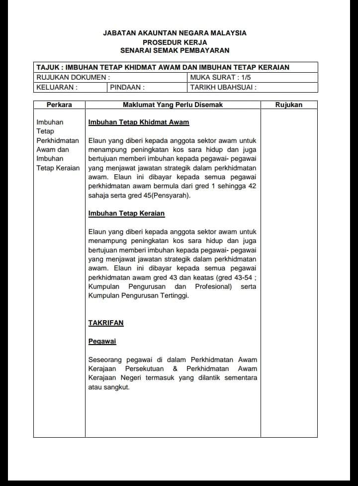 Blog Cikgu Zahidi Info Maksud Imbuhan Tetap Khidmat Awam Dan Imbuhan Tetap Keraian