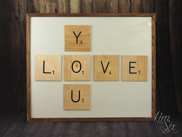 LOVE YOU scrabble wall art