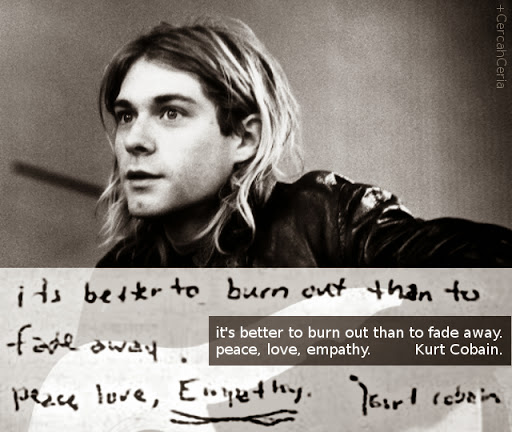 kata terakhir kurt cobain, pesan terakhir kurt cobain, kurt cobain suicide note.
