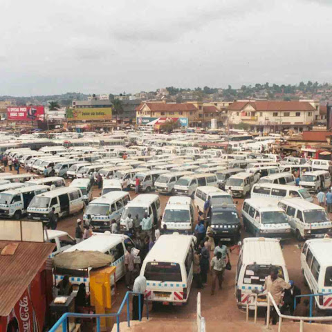 A Taxi park in Kampala