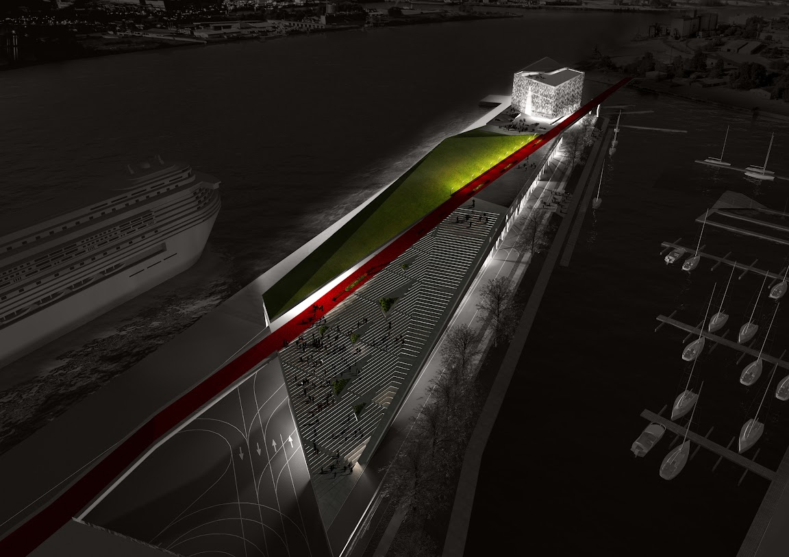 Riga Passenger Terminal Winning Proposal design by  NRJA