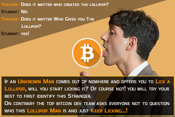 Bitcoin lollipop logic - Bitcoin is Scam