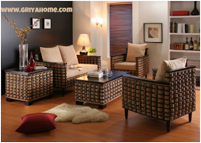Desain Interior Ruang Tamu Parabot Klasik