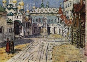 Царская площадка и Красное крыльцо Грановитой палаты в Кремле, 1904