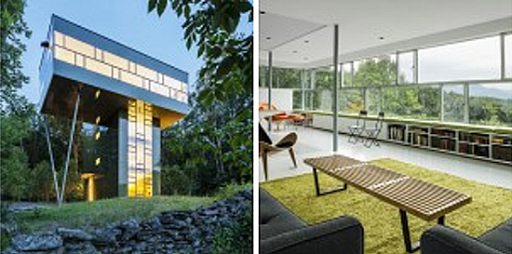 The Top Floor Spreads Out Like The Forest Canopy And Houses The Living  Spaces Where The Inhabitants Are Provided With Views Of The Mountains And  Lakes.