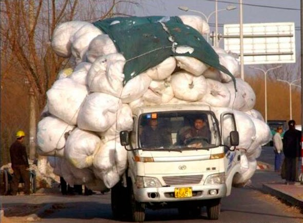 Camión con exceso de transporte