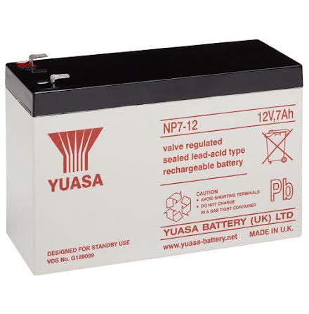 AGM batteri YUASA NP7-12 12V 7Ah LxBxH:151x65x97,5
