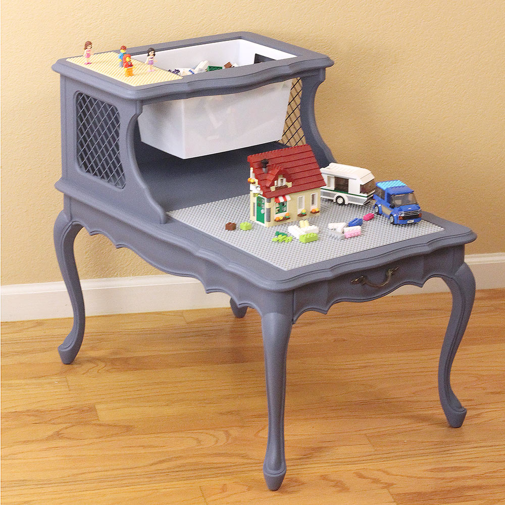 Lego Table from Tiered Side Table