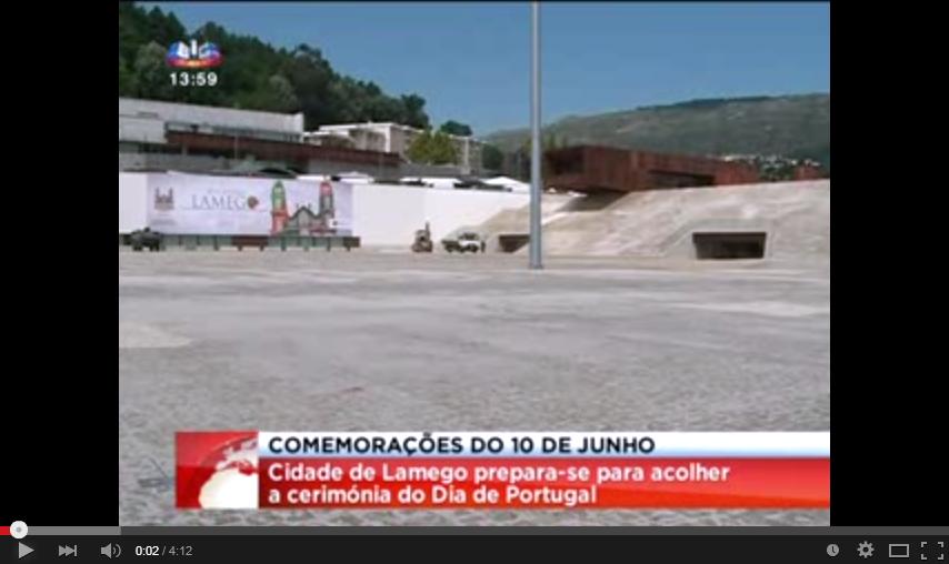 Reportagem SIC - Cidade de Lamego prepara-se para receber o Dia de Portugal
