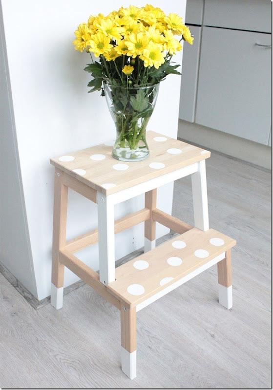Diy ikea bekvam sgabello scaletta trasformazione case for Sgabello legno ikea