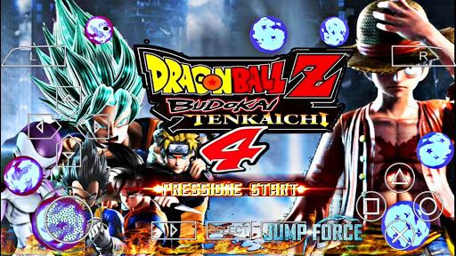 SAIUU! Dragon Ball Z Budokai Tenkaichi 4 MOD JUMP FORCE +MENU DBS TTT V4 Para ANDROID (PPSSPP)