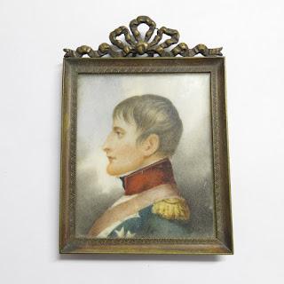Miniature Portrait of Napoleon in Profile