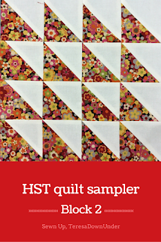 Block 2: 16 HST quilt sampler - beginner quilt