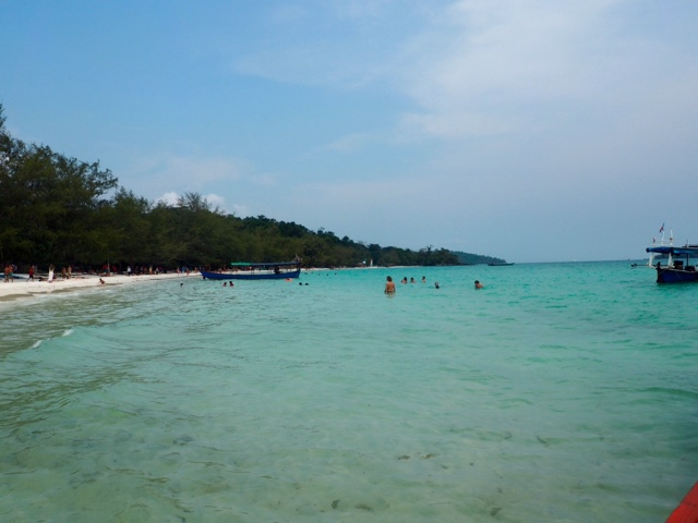 Ocean view from the main pier on Koh Rong island, Cambodia