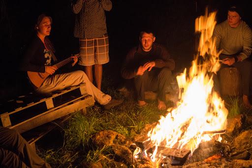 Worship around the fire