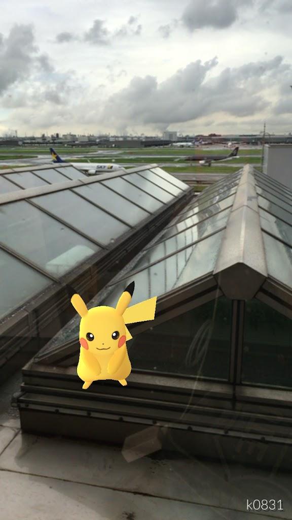 2016年8月下旬に羽田空港内で遭遇したポケモン