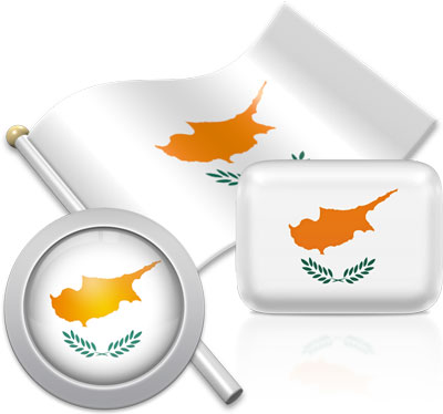 Cypriot flag icons pictures collection