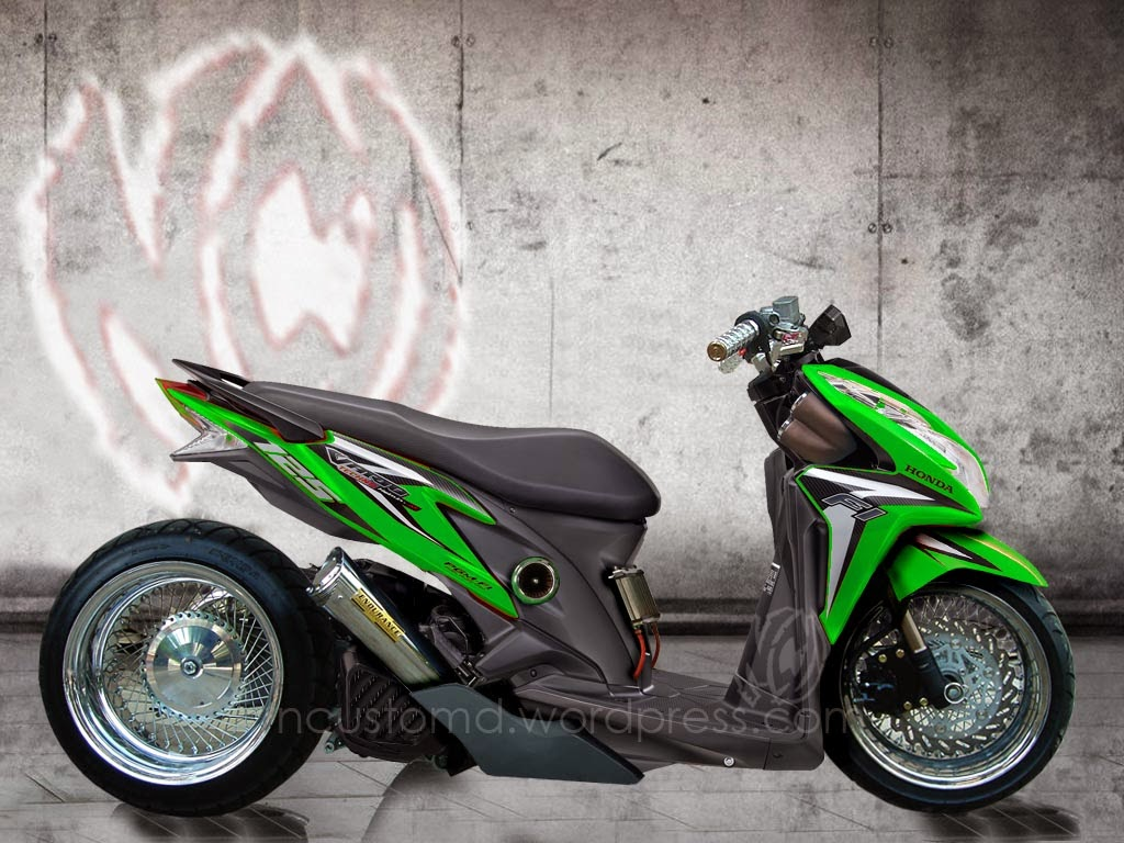 Vario Techno Modifikasi Pelek 17