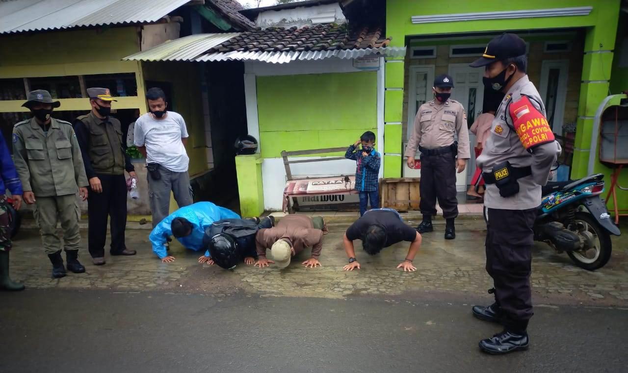 Tim Gabungan TNI, Polri, Sat Pol PP dan Dishub Gelar Ops Yustisi di Wilkum Polres Tasikmalaya Polda Jabar