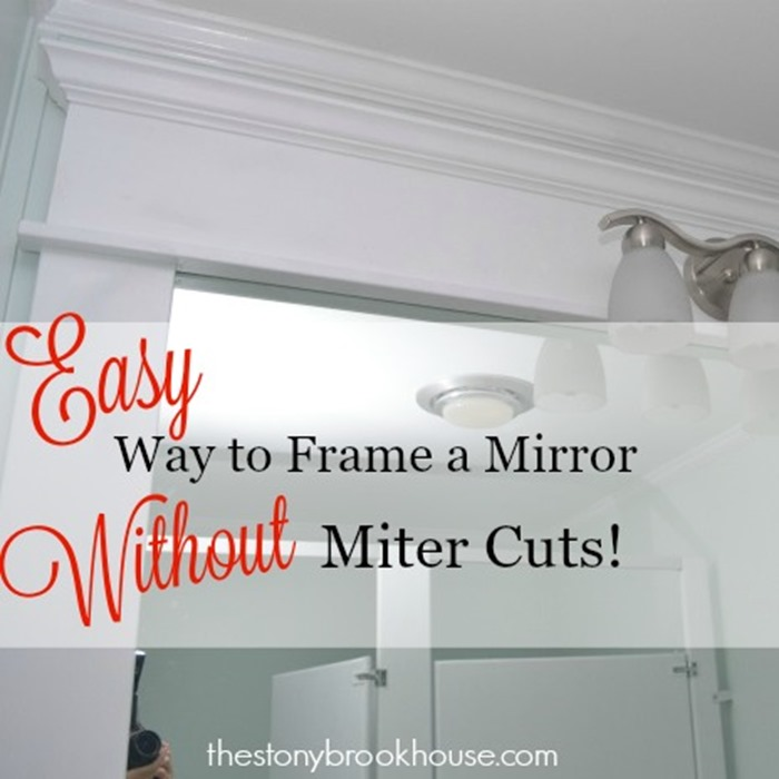 Easy Way to Frame a Mirror Without Miter Cuts