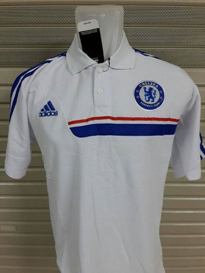 Jual Kaos Polo Chelsea Away Warna Putih