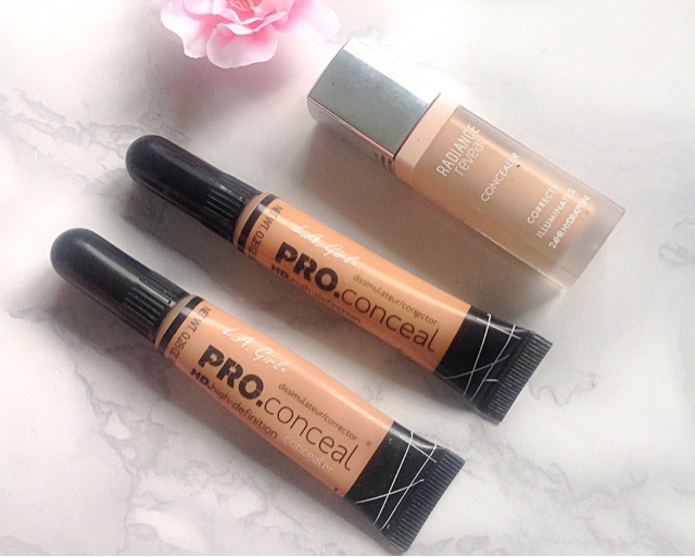 L.A Pro Conceal HD Concealer, Bourjois Radiance Reveal Review