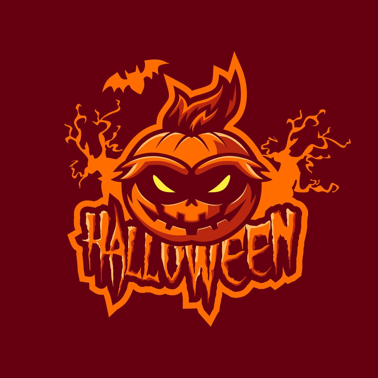 Halloween Mascot Logo Premium Free Download Vector CDR, AI, EPS and PNG Formats