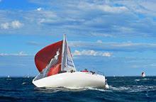 J24 sailing Australia sideways
