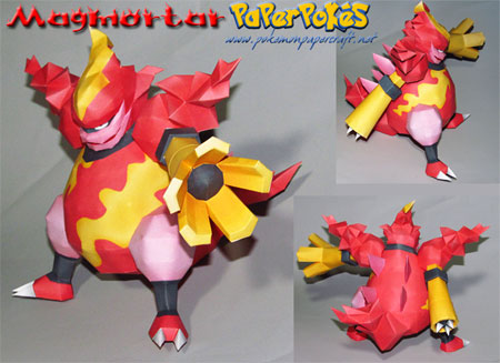 Pokemon Magmortar Papercraft