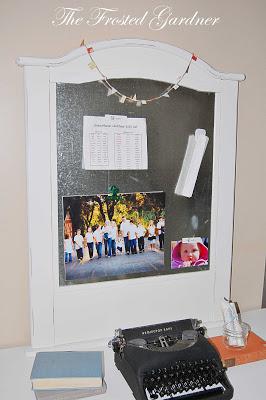 Crib turned message board