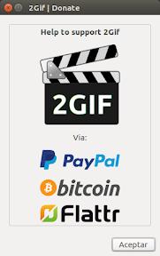 convertir video a gif - donaciones