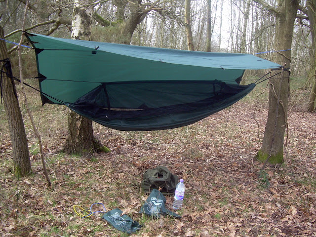 Hammock with tarp shelter